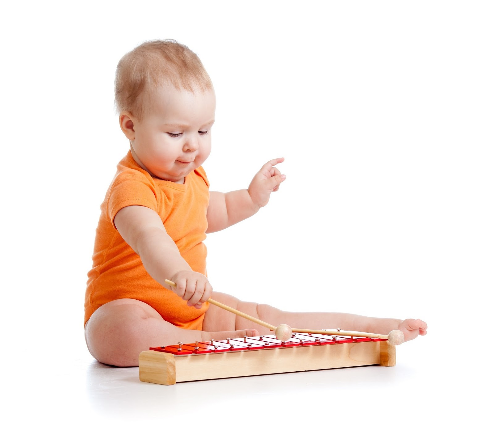 baby and instrument
